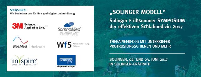 Solinger Frühsommer Symposium der effektiven Schlafmedizin 2017